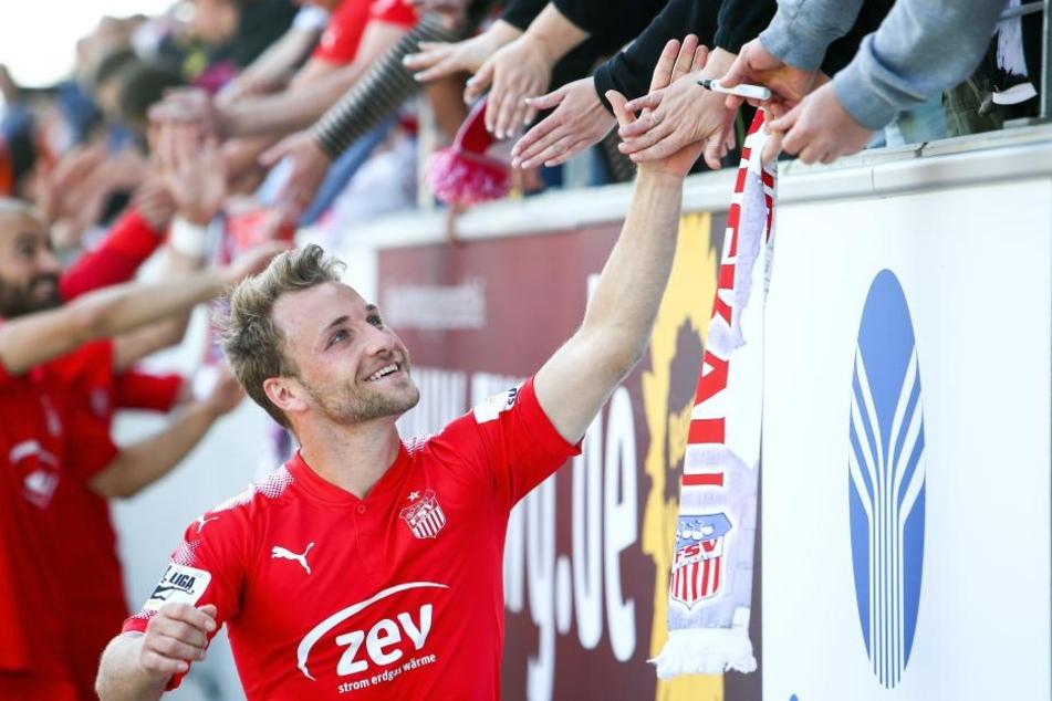 Mike Könnecke freut sich mit den FSV-Fans auf den BVB.