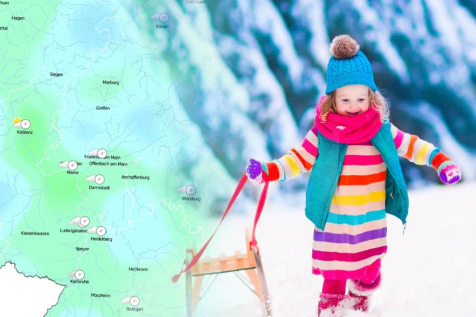 Erster Schnee im Tiefland überrascht die Hessen zur Wochenmitte