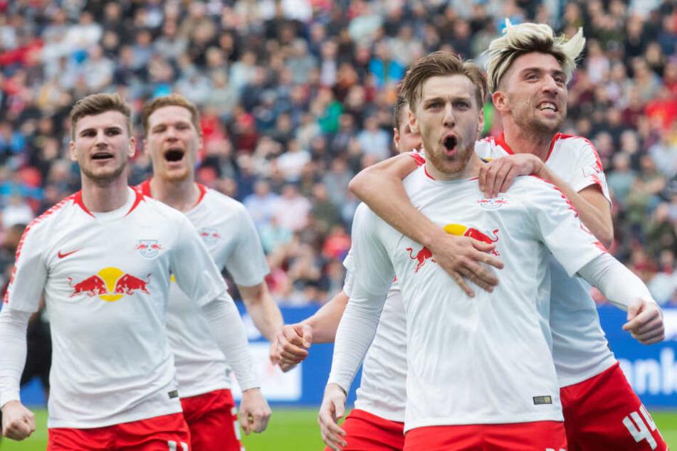 Durch das 4:2 hat RB Leipzig nun fünf Punkte Vorsprung auf den Vierten Frankfurt.