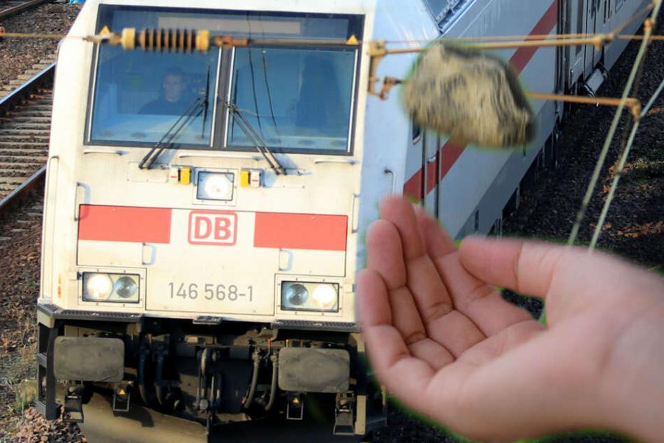 Gefährliches Spiel der Kinder: Intercity mit Steinen beworfen