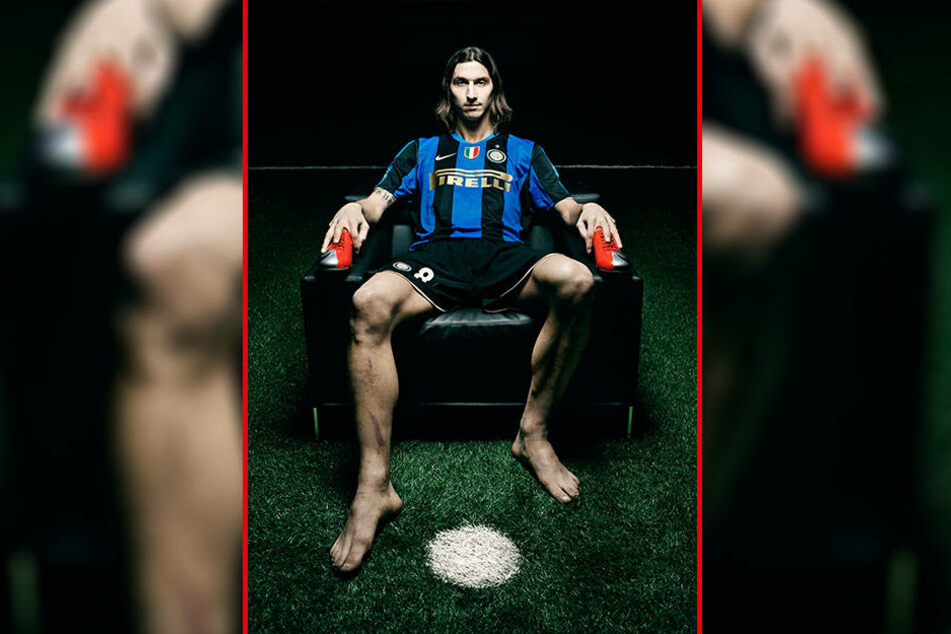 So fotografierte der Italiener Fußball-Legende Zlatan Ibrahimović.