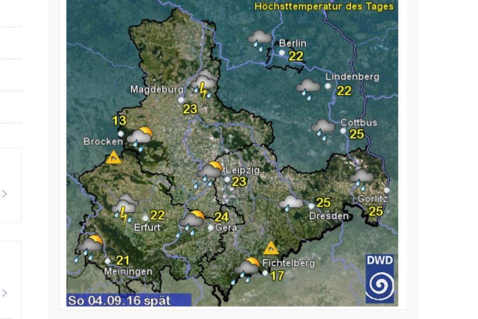 Am Sonntag wird es in ganz Sachsen nass.