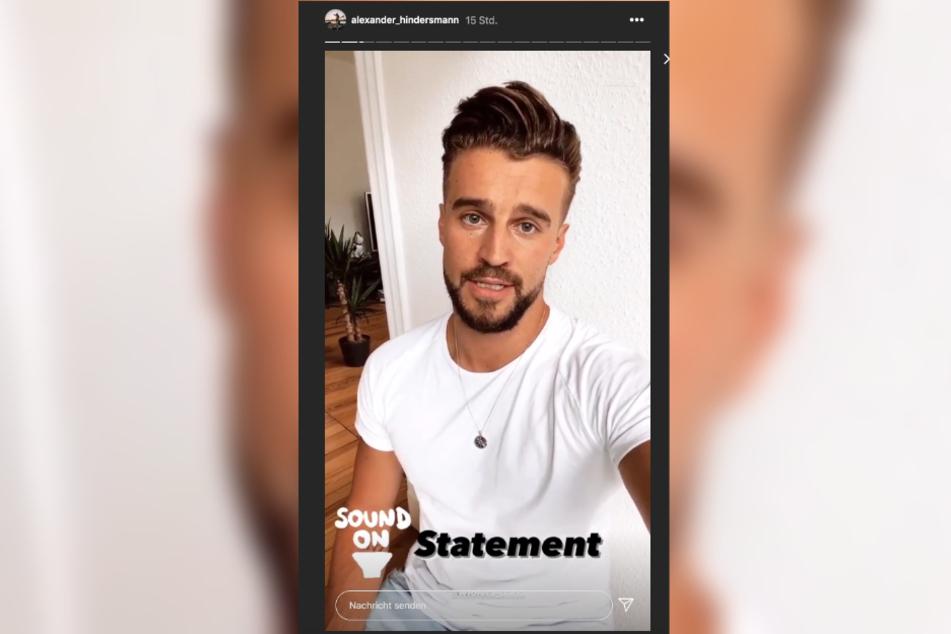 Alexander Hindersmann (31) nimmt zu den Trennungsgerüchten in einem Statement auf Instagram Stellung.
