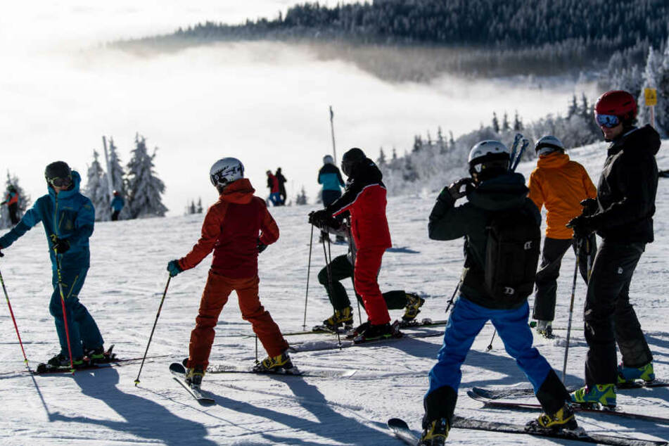 Am Feldberg läuft der Skibetrieb.