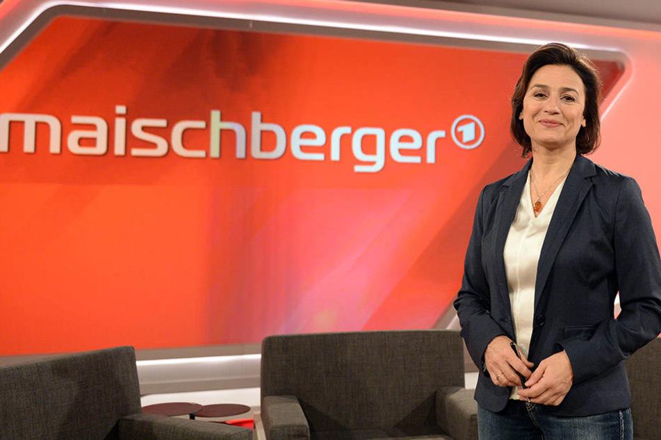 Journalistin und Moderatorin Sandra Maischberger diskutiert mit ihren Gästern über das Gladbecker Geiseldrama.