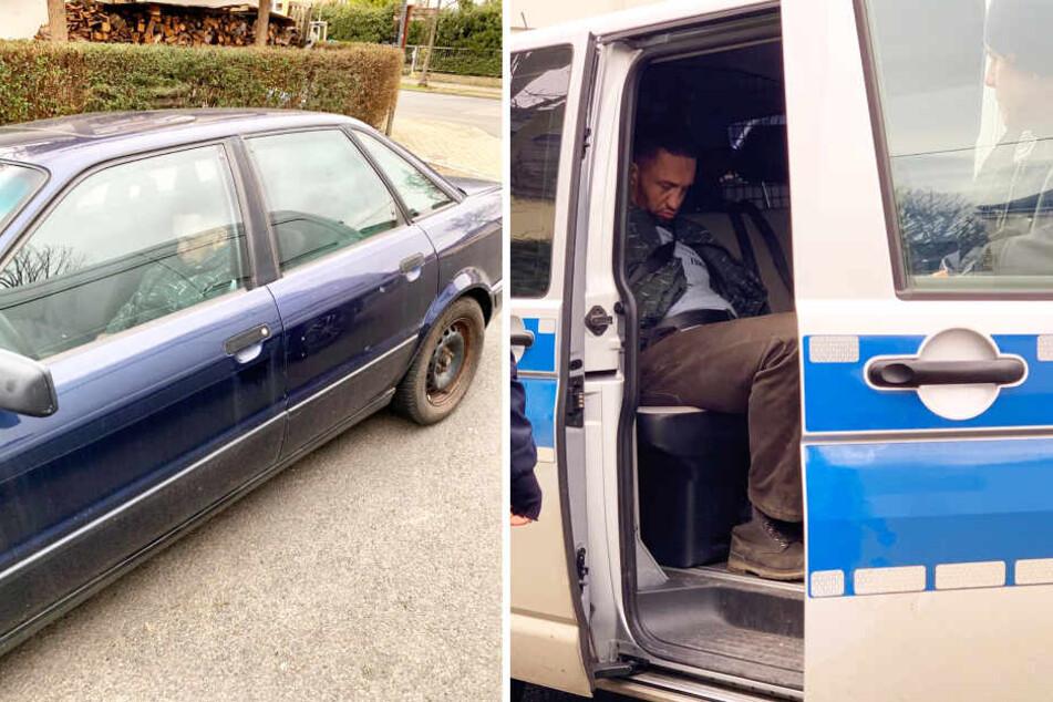 Die Polizei riss den angetrunkenen Autodieb aus seiner geruhsamen Nachtruhe. Schien ihn nicht zu stören, im Streifenwagen nickte er gleich wieder ein.