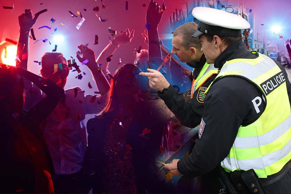 Mit Pfefferspray wehrten sich die Beamten gegen die Menschengruppe. (Symbolbild)