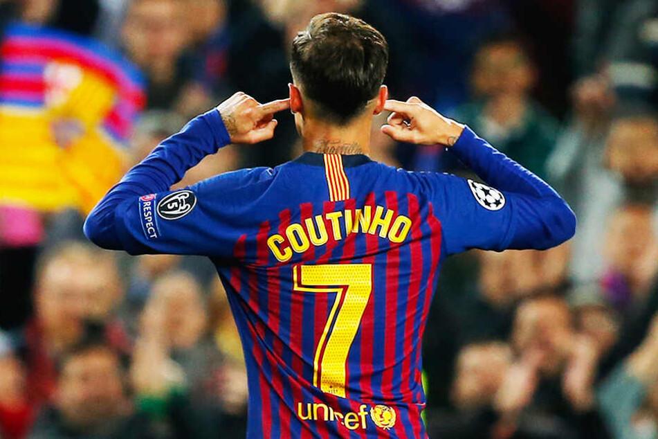 Philippe Coutinho wird nicht erst seit dieser als Provokation angesehenen Geste von vielen Barca-Fans kritisch gesehen.