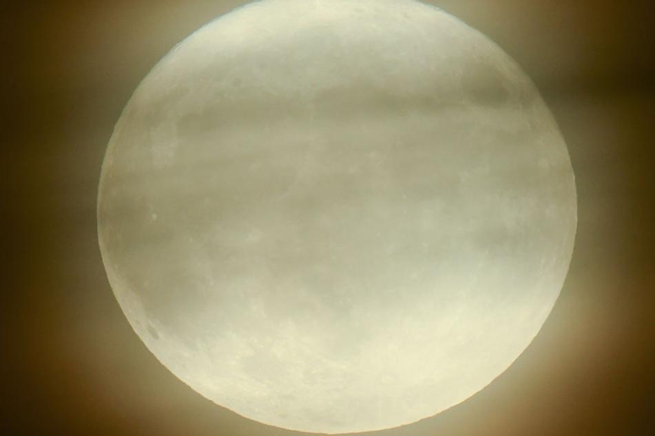Der Vollmond kommt Anfang Dezember auf seiner Umlaufbahn der Erde besonders nah und erscheint dadurch viel größer als sonst.