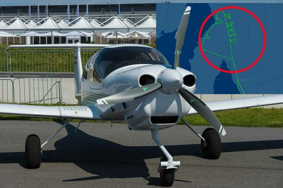 Pilot schreibt witzige Botschaft an den Himmel