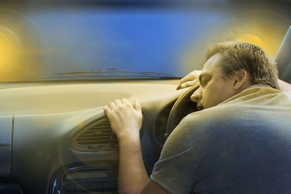 Der Brummi-Fahrer konnte die Augen nicht mehr offen halten. (Symbolbild)