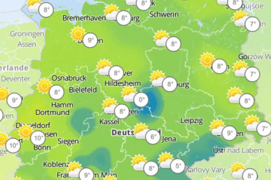 In Deutschland wird es deutlich kühler.