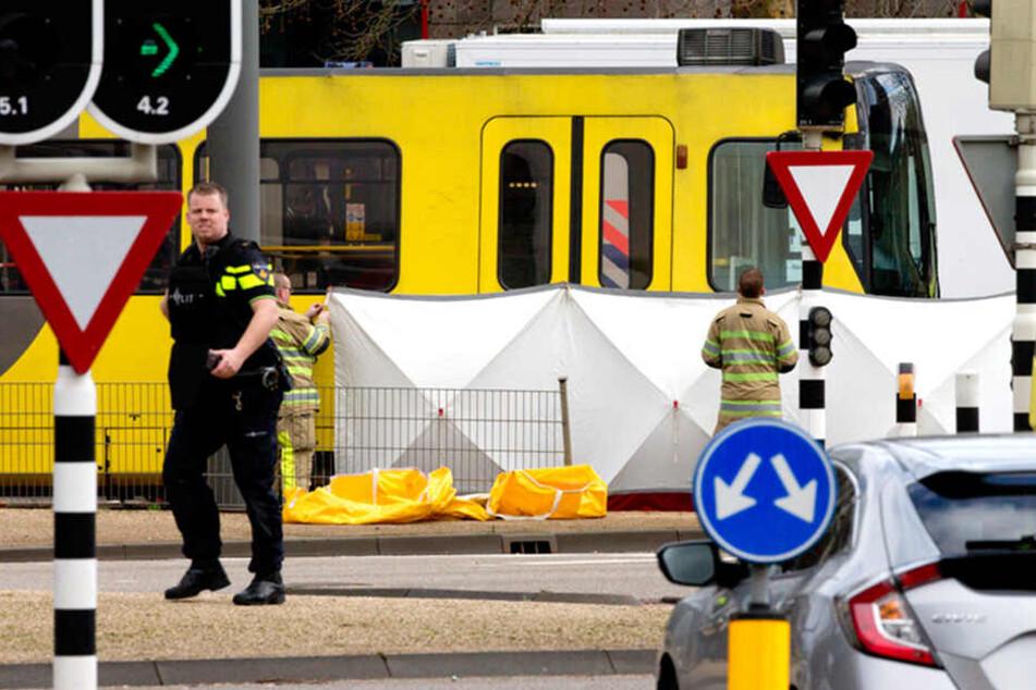 In Utrecht sollen in einer Straßenbahn Schüsse gefallen sein.