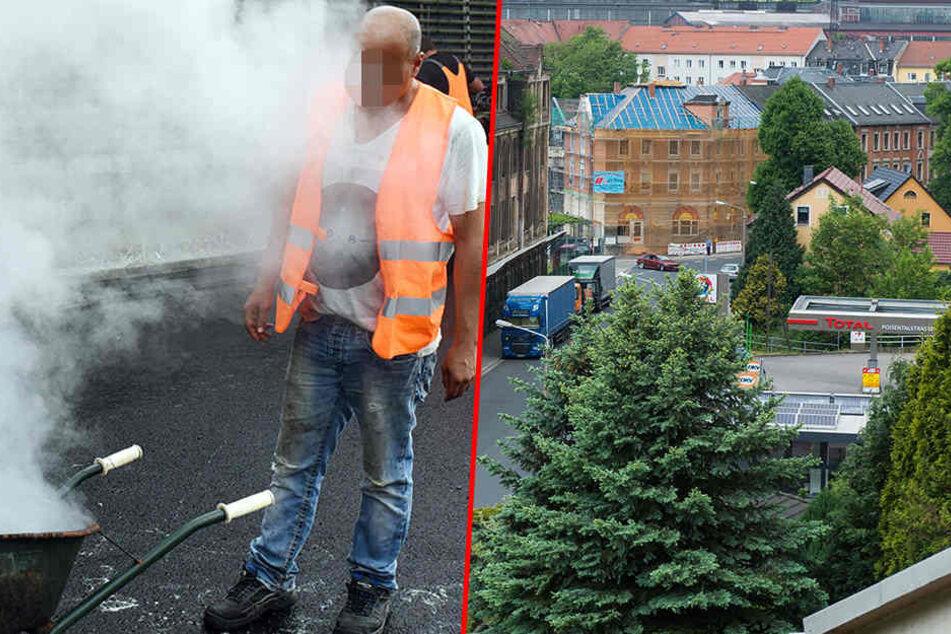 In Freital wurde ein Mitarbeiter der Stadtverwaltung bei Straßenbauarbeiten angegriffen. (Symbolbild)