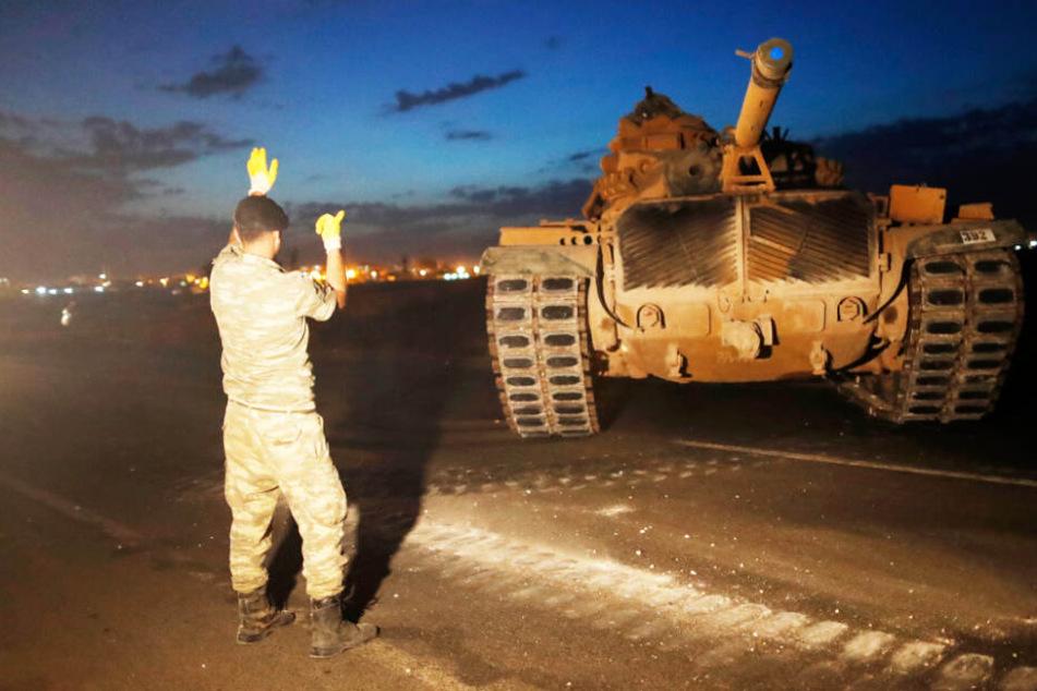 Das türkische Militär setzt bei der Offensive in Syrien auf die Stärke des Militärs.
