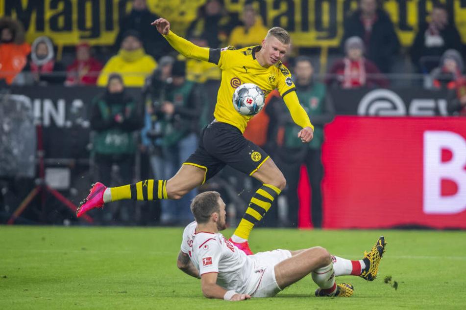 BVB-Joker Erling Haaland (19) traf nach seiner Einwechslung zweimal gegen den 1. FC Köln.