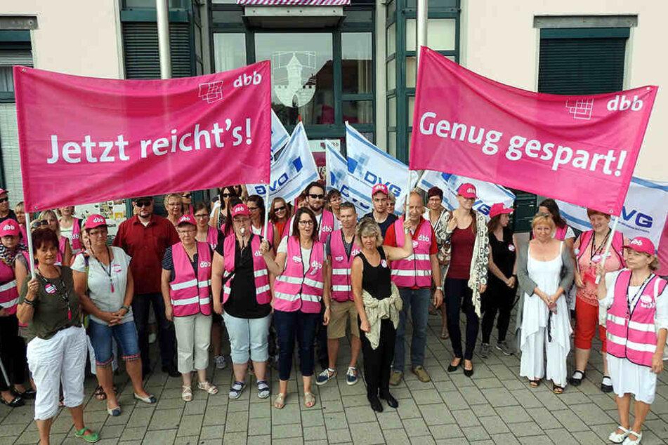 Kommt der Mega-Streik in Naundorf? Auf der heutigen Stadtratssitzung kann die  Eskalation noch abgewendet werden.