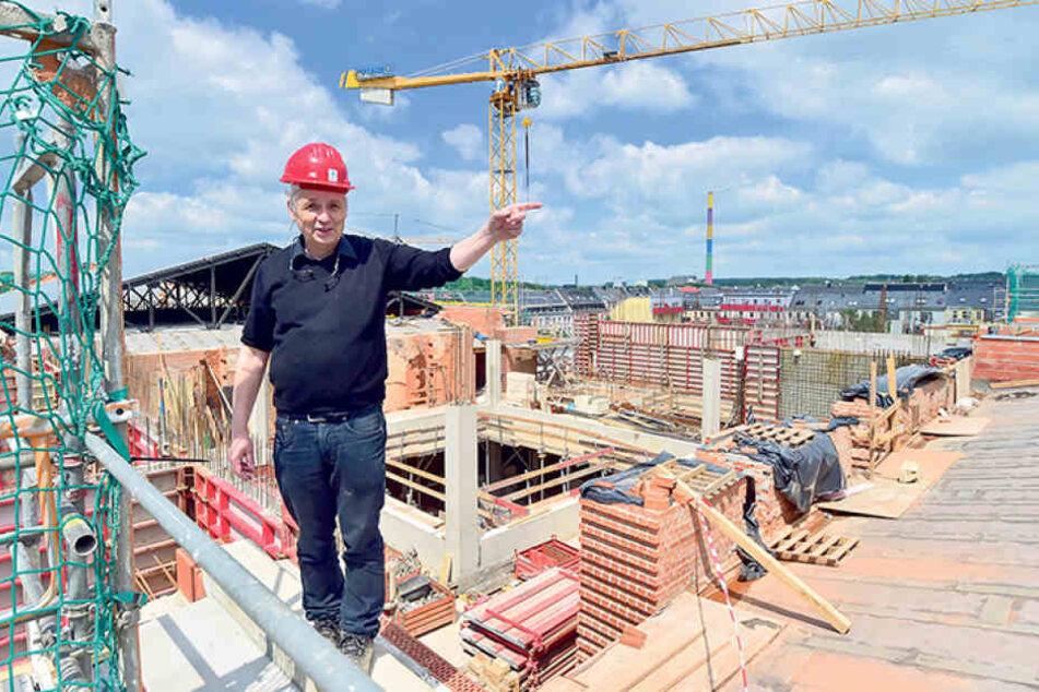 Knapp 12.200 Quadratmeter Nutzfläche für die Zentralbibliothek und das  Universitätsarchiv entstehen derzeit. Architekt Siegmar Lungwitz gab beim  Absolvententag der TU schon mal erste Einblicke.