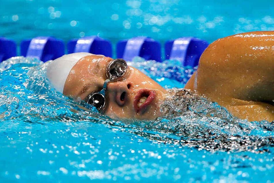 Auch beim Schwimmen war die Dresdnerin erfolgreich. Nach den Paralympics in London gab die den Sport jedoch auf.