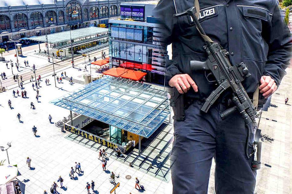 Nahe dem Hauptbahnhof in Dresden mussten Polizeibeamte einschreiten. (Symbolbild)
