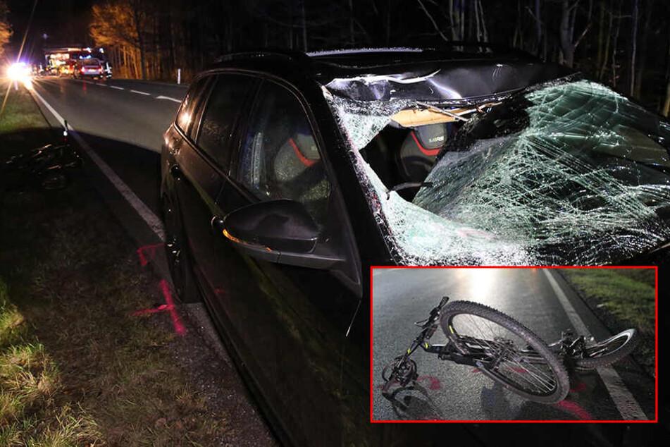 Horror-Crash in Sachsen: Radfahrer wird in Gegenverkehr geschleudert und stirbt