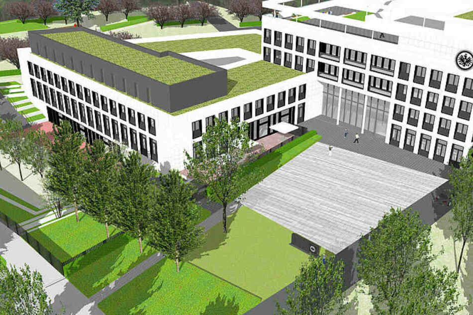 Unweit der Commerzbank Arena soll der Neubau entstehen. Bezugsfertig soll das Gebäude Ende 2021 sein.