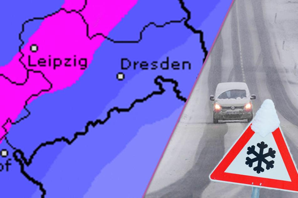 Winterschock in Sachsen! Nach Dauerregen rollt fette Schneefront auf uns zu