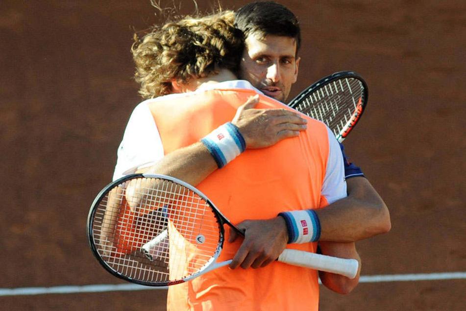 Glückwünsche von Novak Djokovic: Alexander Zverev gewinnt ATP Masters von Rom.