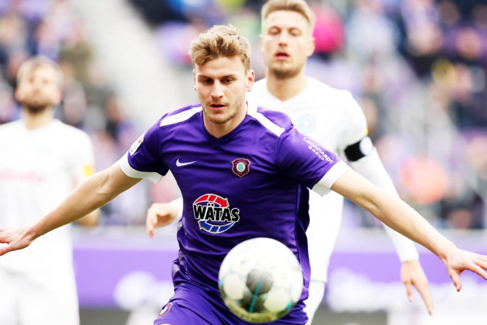 Die Leihe von Christoph Daferner (22) zum FC Erzgebirge Aue verlief durchwachsen, war für den jungen Stürmer aber lehrreich.