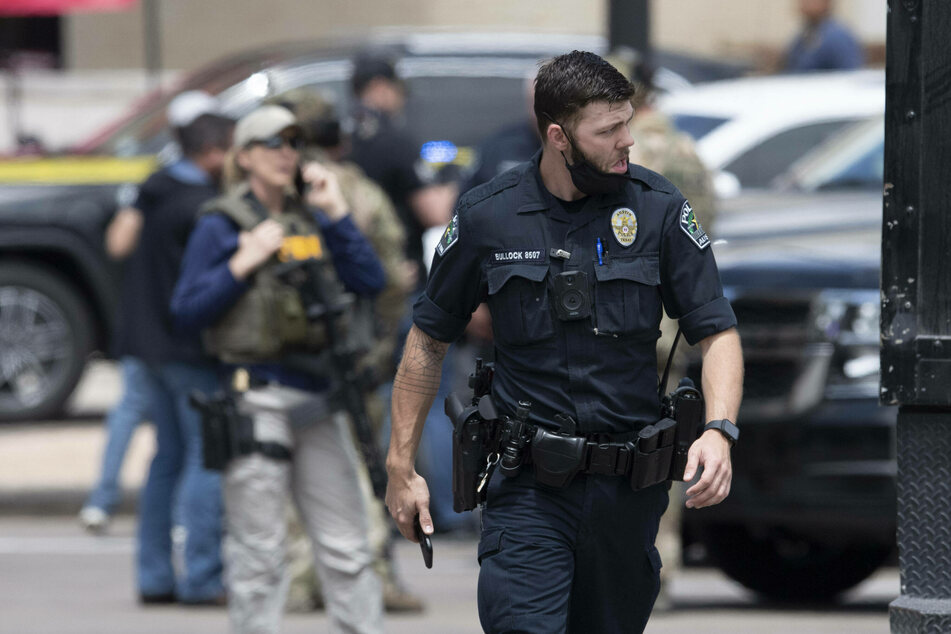 Law enforcement officers are currently searching for the suspect who escaped after the fatal shooting of three people in Austin.