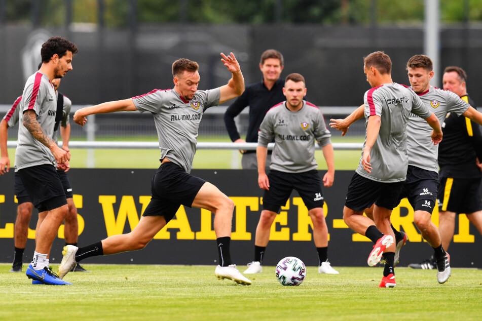 Hautnah dabei: Einige Dynamo-Fans dürfen sich die neu zusammengestellte Mannschaft im Training anschauen.
