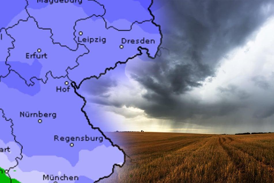 Endlich Regen! Ein Tief aus dem Norden bringt die nötige Abkühlung nach Sachsen.