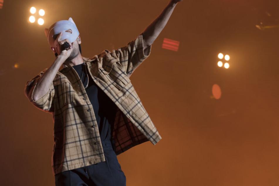 Rapper Cro brachte am Freitag die Menge zum Toben.