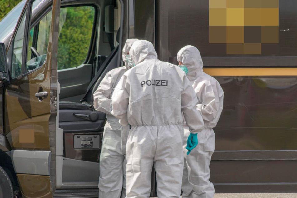 Die Spurensicherung am Tatort.