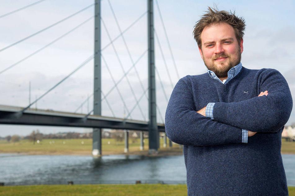 Er geht voran: Juso-Landesvorsitzender Frederick Cordes (30).