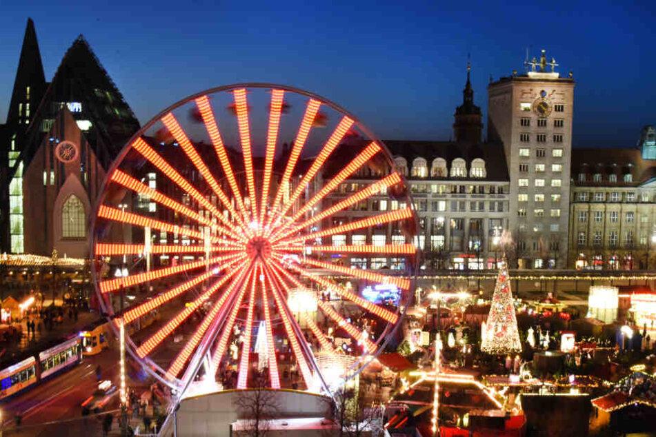 Der Leipziger Weihnachtsmarkt öffnet vom 26. November bis 23. Dezember seine Pforten.