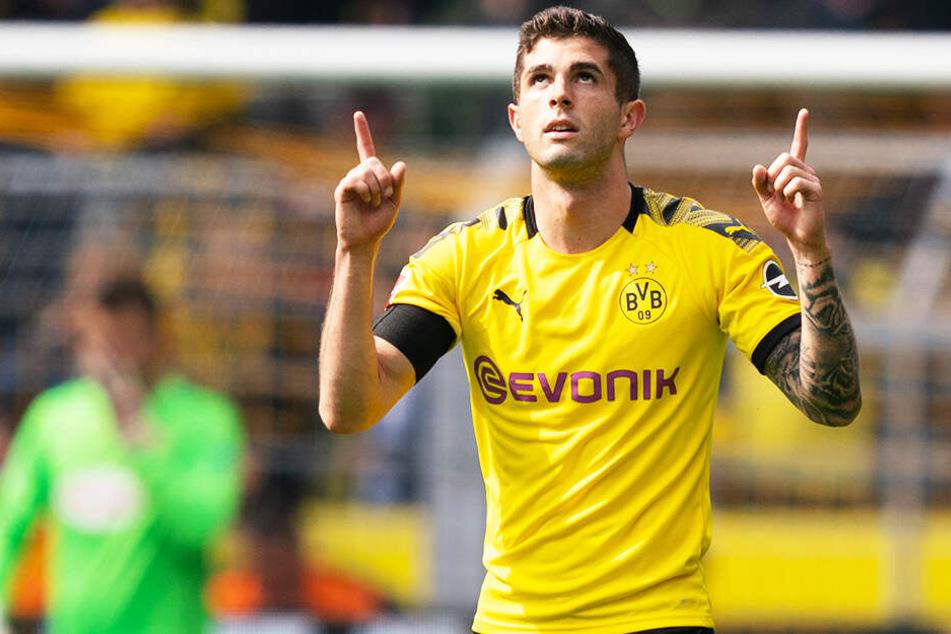 Traf in seinem letzten Heimspiel im BVB-Trikot für Borussia Dortmund: Christian Pulisic.