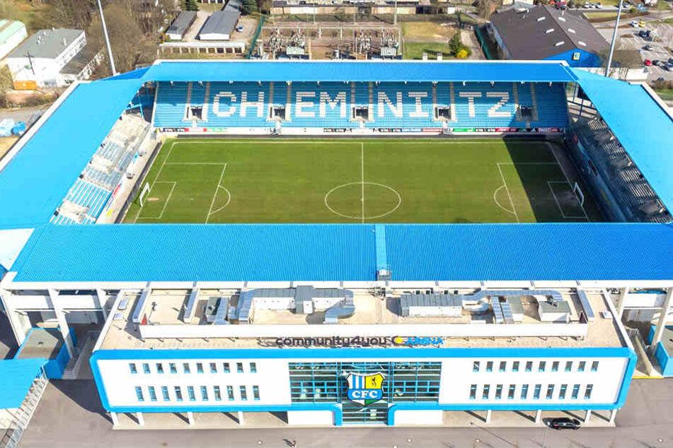 Das Chemnitzer Fußballstadion.