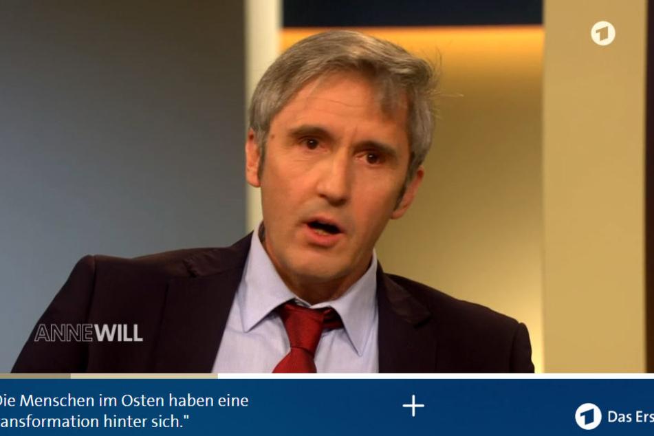 Der ehemalige Direktor der Sächsischen Landeszentrale für politische Bildung in Dresden Frank Richter zu Gast bei Anne Will.