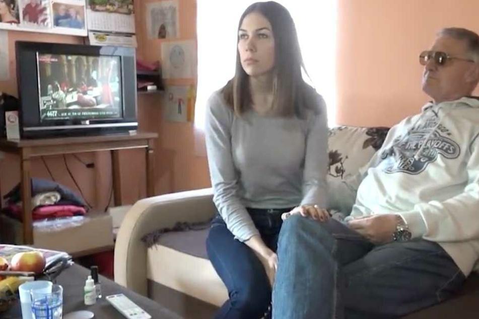 Milijana und Milojko während eines Interviews mit einem serbischen TV-Sender.