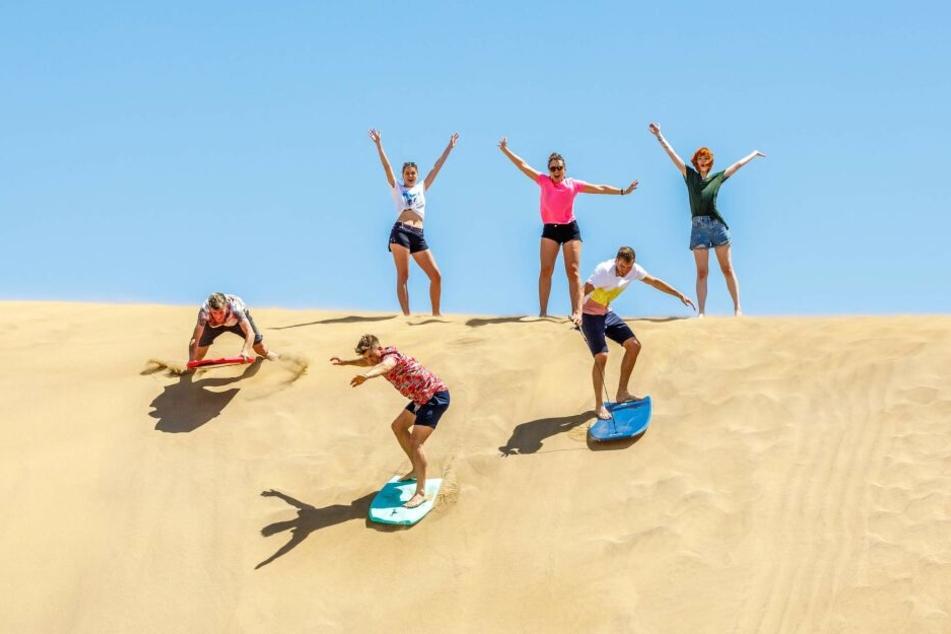 Sandboarden wie beim Werbespot-Dreh? Kein Problem - Feldi schenkt Euch den Ausflug!