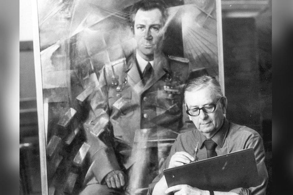 Heldenverehrung: Der Maler Paul Michaelis aus Dresden schuf 1980 ein Ölgemälde des Raumfahrers.