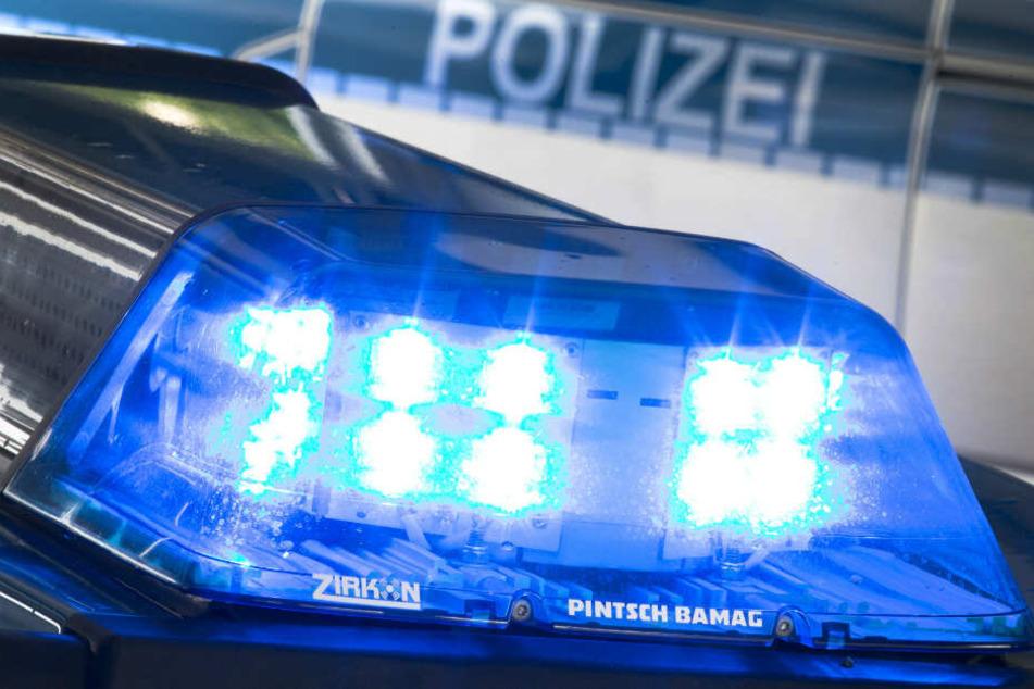 """Neun Polizisten aus Brandenburg haben vor einem Graffiti mit dem Slogan """"Stoppt Ende Gelände"""" posiert. (Symbolbild)"""
