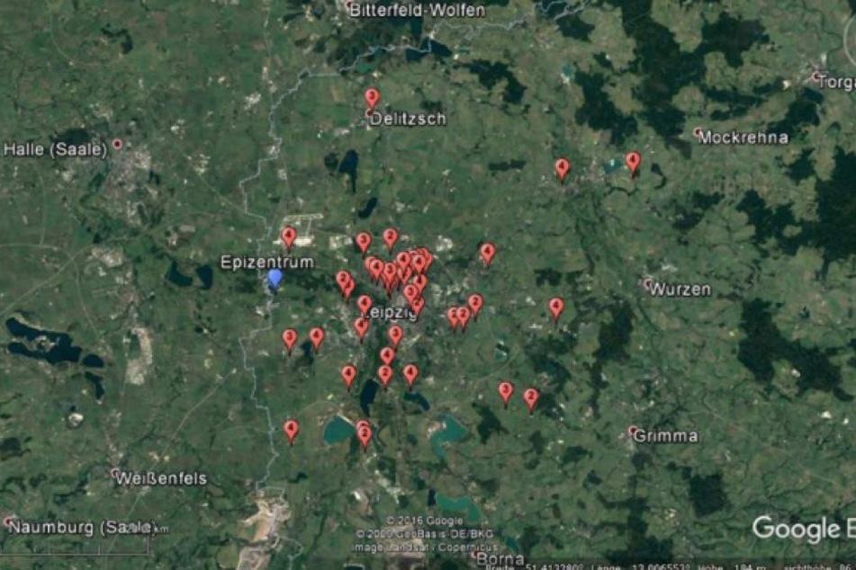 Region Leipzig-Halle: Leichtes Erdbeben - Epizentrum im sächsischen Schkeuditz