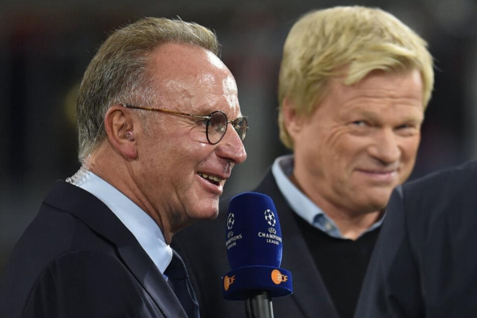 Oliver Kahn (r) soll Karl-Heinz Rummenigge als Vorstandschef ablösen.