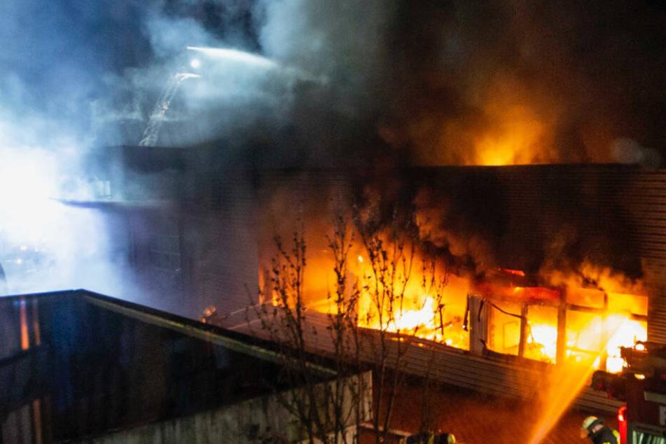 Völlig zerstört! Feuer richtet Millionen-Schaden an