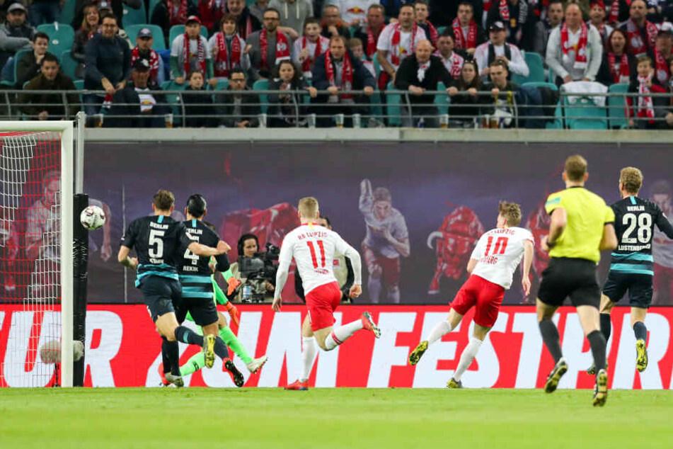 Hertha BSC musste gegen RB Leipzig fünf Gegentreffer einstecken.