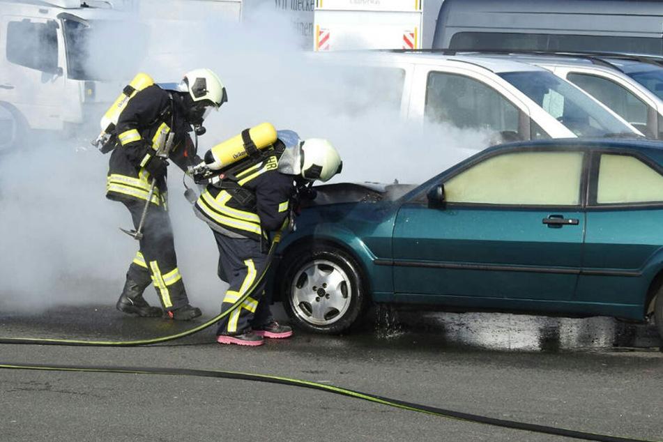 Die Kameraden waren rasch vor Ort, um den Brand zu löschen.