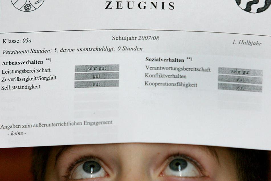 Kopfzerbrechen über Kopfnoten? Diese Zeiten scheinen an Sachsens Schulen vorbei zu sein. (Symbolbild).