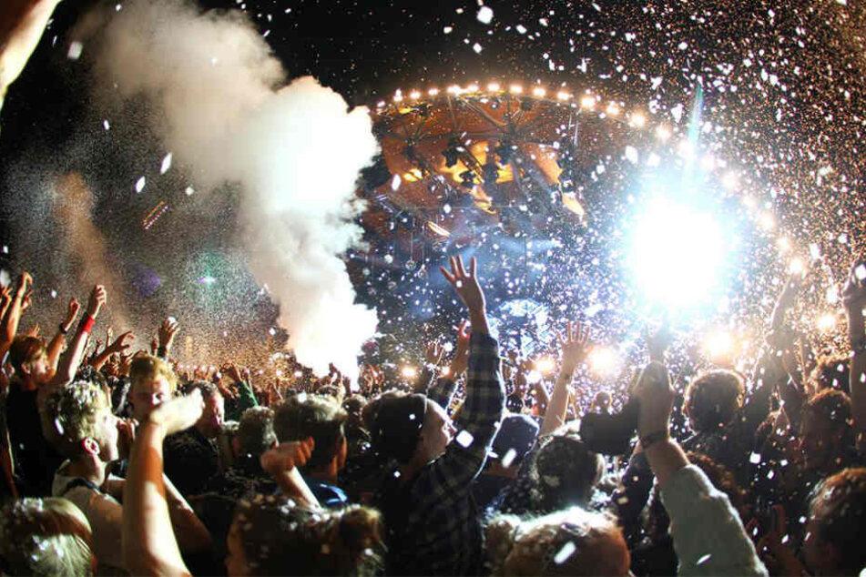 Das Roskilde Festival in Dänemark ist jedes Jahr ein riesen Spektakel.